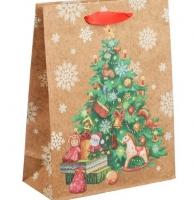 Пакет крафт подарочный «Ёлочка»