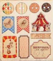Чипборд для скрапбукинга Цирк