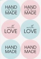 Наклейки круглые Hand Made