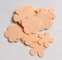 Лепестки из фоамирана персиковые