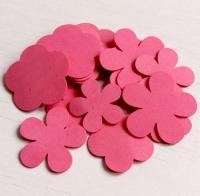 Лепестки из фоамирана ярко-розовые