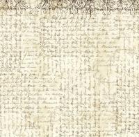 Салфетка рисовая для декупажа Рукопись