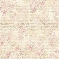 Салфетка рисовая Розовые цветы и письма