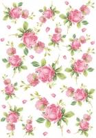 Бумага рисовая Английские розовые розы