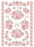 Бумага рисовая Гирлянды и бордюры из роз