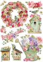 Бумага рисовая Цветущий сад
