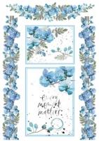 Бумага рисовая Голубые орхидеи