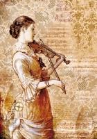 Бумага рисовая Девушка со скрипкой