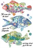 Бумага рисовая Сказочные рыбки