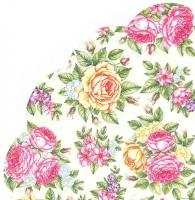 Салфетка круглая Винтажные розы №822