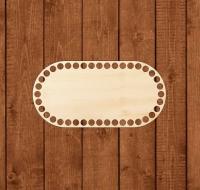 Деревянное донышко «Овал с прямыми боками» 10х20 см