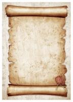 Бумага двусторонняя Свиток с печатью