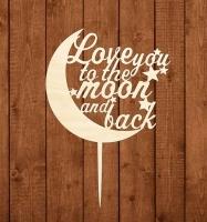 Топпер Люблю тебя, как до луны и обратно