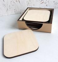 Набор подставок под кружку в коробочке