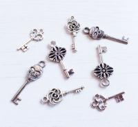 Набор подвесок Серебряные ключи