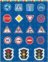 Наклейки «Внимание на дороге»