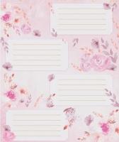 Наклейки для надписей Розовые цветы