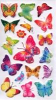Наклейки пластиковые Бабочки