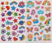 Наклейки голографические Бабочки и Звезды