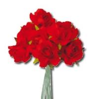 Розы красные бумажные