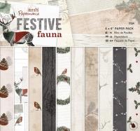 Набор бумаги «Festive Fauna» мини