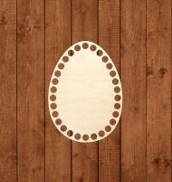 Деревянное донышко «Яйцо» для корзины 11х15 см