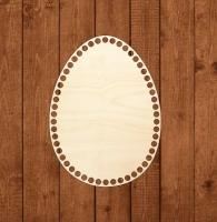 Деревянное донышко «Яйцо» для корзины 18х25 см