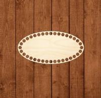 Деревянное донышко для корзины Узкий овал 10х20 см