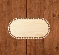 Деревянное донышко «Овал с прямыми боками» 15х30 см