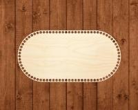 Деревянное донышко «Овал с прямыми боками» 20х40 см