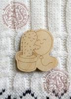 Заготовка «Колючая любовь» для деревянного значка