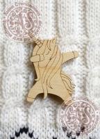 Заготовка «Будь стильным» для деревянного значка
