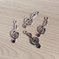 Набор подвесок Скрипичный ключ серебристый