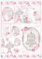 Большая карта для декупажа «La Vie en Rose»