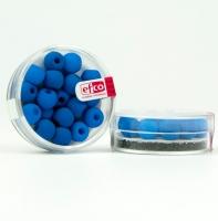 Бусины стеклянные синие неоновые