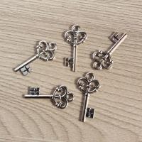 Набор подвесок Маленький ключ серебристый
