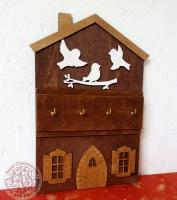 Ключница Домик с птичками