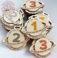 Медали деревянные для соревнований
