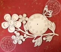 Часы «Веточка с цветами». Заготовка