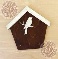 Ключница-домик «Птица большая»