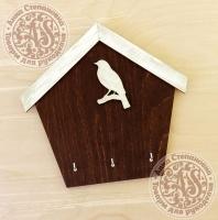 Ключница-домик «Птичка на ветке»