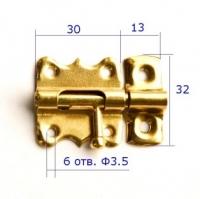 Шпингалет маленький для бизиборда золотистый