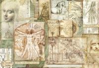 Бумага рисовая для декупажа Леонардо. Наброски