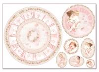 Бумага рисовая для декупажа «Часы для малышки»