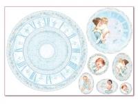 Бумага рисовая для декупажа «Часы для малыша»