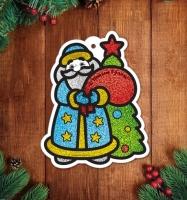 Фреска блёстками «Дед Мороз»