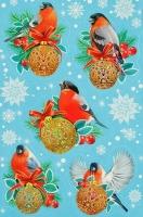 Наклейки декоративные «Снегири»