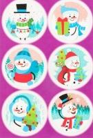 Наклейки декоративные «Снеговики»