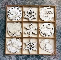 Большой набор ёлочных игрушек №6 Мышкина зима