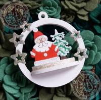 Новогодний набор для творчества Дед Мороз у ёлки